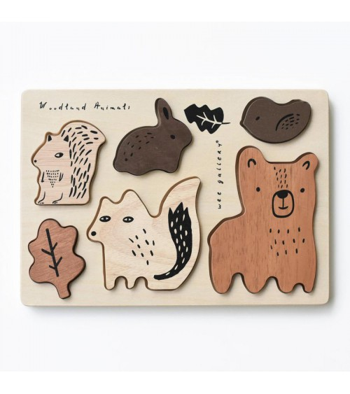 Wooden puzzle - Woodland...